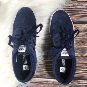 Navy Blue Suede Adidas